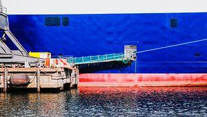 Schiffswand in der Werft