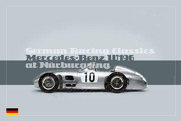 Mercedes Benz W196 op de Nürburgring, Duitsland van Theodor Decker