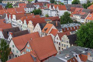Luftaufnahme von der Hansestadt Wismar