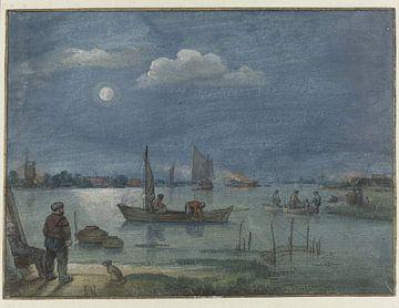 Fischer bei Mondschein, Hendrick Avercamp, 1595 - 1634