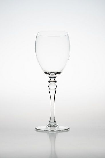 High key afbeelding van een wijnglas