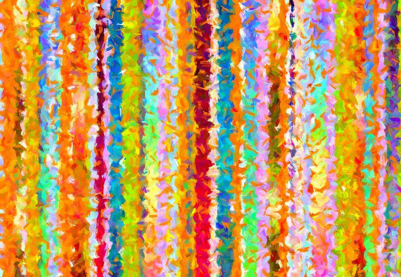 Rayures abstraites sur Marion Tenbergen