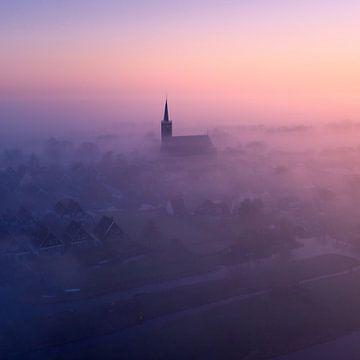 Mistige ochtend bij Schermerhorn 2 van Niels Tichelaar
