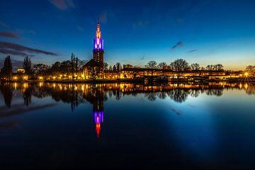 Potsdam skyline op de Havel op het bouwuur