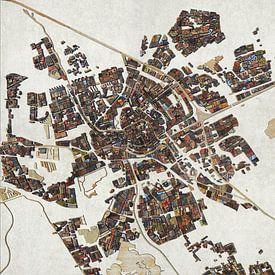Sloophoutkaart Groningen van Frans Blok