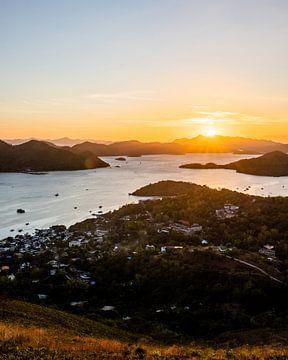 Sonnenuntergang in Coron | Philippinen von Yvette Baur