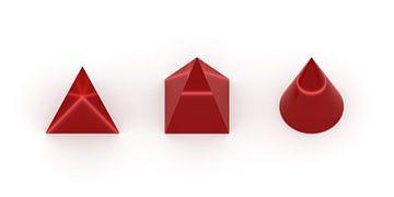 3D-Körper rot van