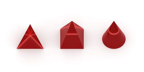 3D-Körper rot