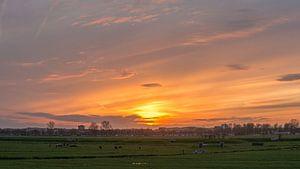 Zonsondergang in Spaarndam van