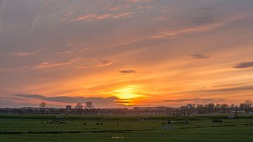 Zonsondergang in Spaarndam von Ardi Mulder