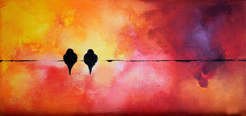 Valentine's Birds 10 van Maria Kitano