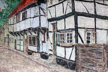 Fachwerkhäuser anagoria, Christian Rohlfs - 1905 von Atelier Liesjes