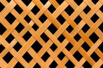 Textur gewebte Details aus Bambus, Rattan von Babette Pinkster