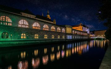 Ljubljana bij nacht