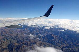 Bergen van het zuidereiland van  Nieuw Zeeland vanuit een vliegtuig