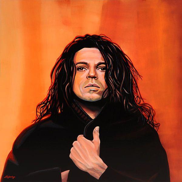 Michael Hutchence of INXS Schilderij van Paul Meijering