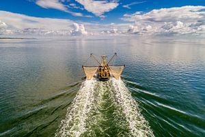 WR98 Kotter voor de kust van Texel van
