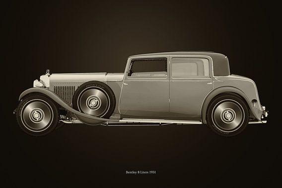 Bentley 8 liter uit 1931 B&W