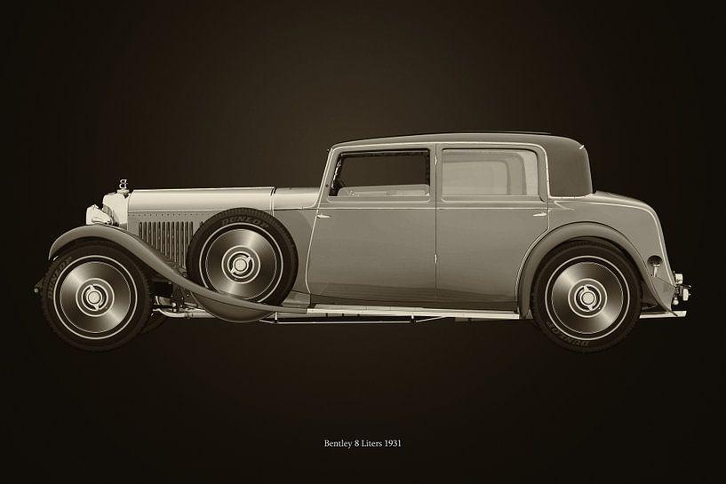 Bentley 8 liter uit 1931 B&W van Jan Keteleer