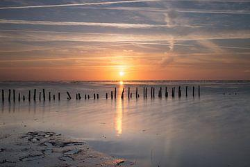 Zonsondergang aan zee sur Angelique Boyer