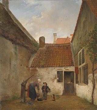 Innenhof, Andreas Schelfhout