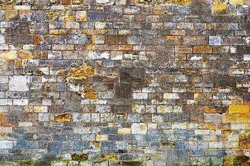Stenen muur in Oxford, Engeland van Frans Blok