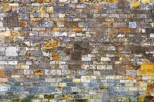 Stenen muur in Oxford, Engeland
