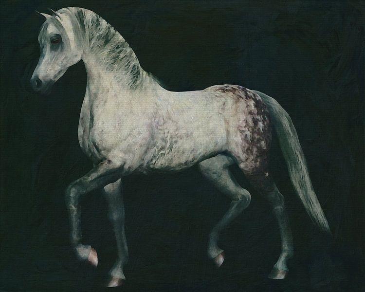 Paard stappend van Jan Keteleer