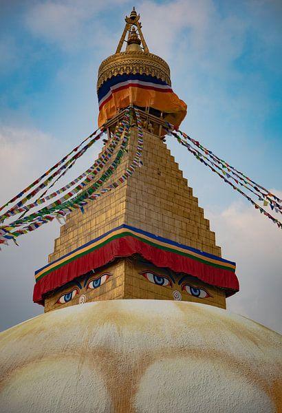 stupa Bouddhanath van E. Luca