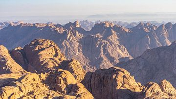 Blick vom Gipfel des Sinai (Ägypten) von Jessica Lokker