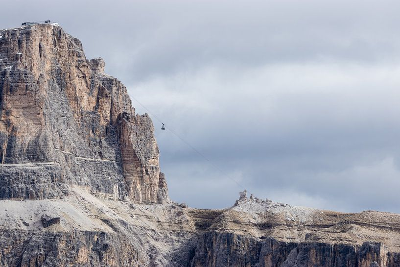 Bergtop kabelbaan van Thijs van den Broek