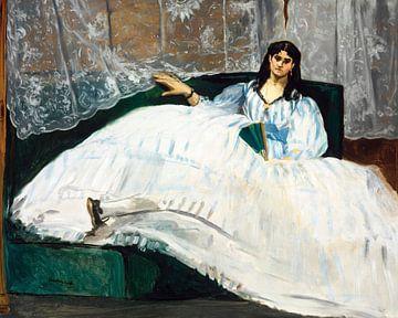 Dame mit Fächer, Édouard Manet