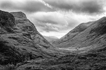 Uitzicht op Glencoe, Schotland van Johan Zwarthoed