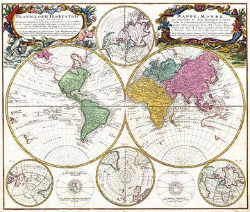 Schöne Retro-Weltkarte von Emma Kersbergen