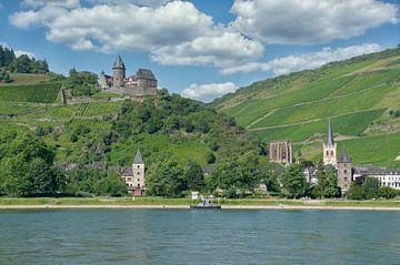 Wijndorp Bacharach am Rhein, Duitsland van Peter Eckert