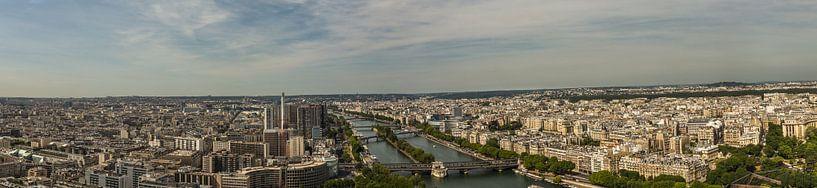 Panorama van boven van de Seine van Melvin Erné