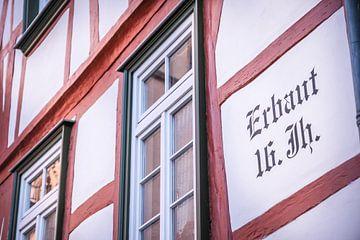 Fachwerkhäuser in der Altstadt von Eltville, Rheingau van Christian Müringer