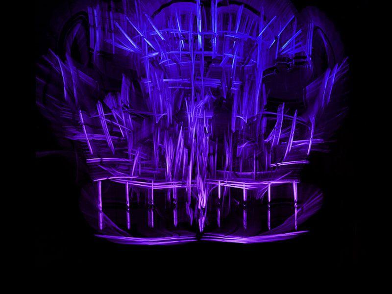 Glowstick structure lightpainting van Rick Verdonschot