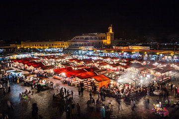 Marrokaanse Arabische markt in Marrakech van Michiel Ton