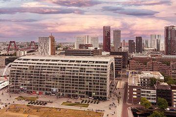 Rotterdam vanaf Laurenskerk van Ilya Korzelius