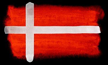 Symbolische nationale vlag van Denemarken van Achim Prill