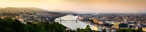 Panorama Boedapest van Björn Jeurgens