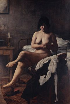 Mädchen wacht auf, sivori eduardo - 1887 von Atelier Liesjes
