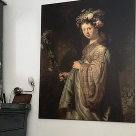 Photo de nos clients: Saskia als Flora, Rembrandt sur Rembrandt van Rijn, sur toile