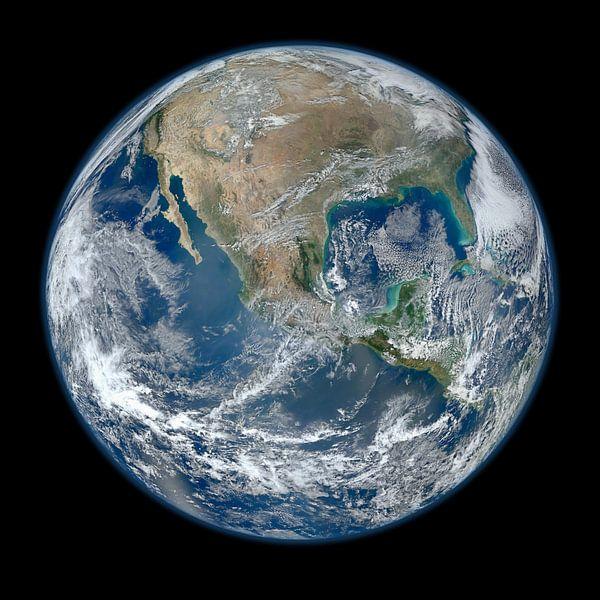 Aarde door Hubble van Brian Morgan
