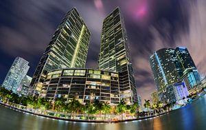 Brickell Skyline met Fisheye lens