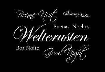 Gute Nacht - Schwarz von Sandra Hazes