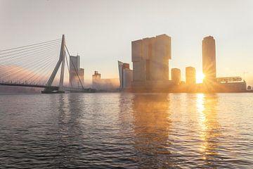 Nebliger Morgen an der Spitze des Südens in Rotterdam von Gijs Koole