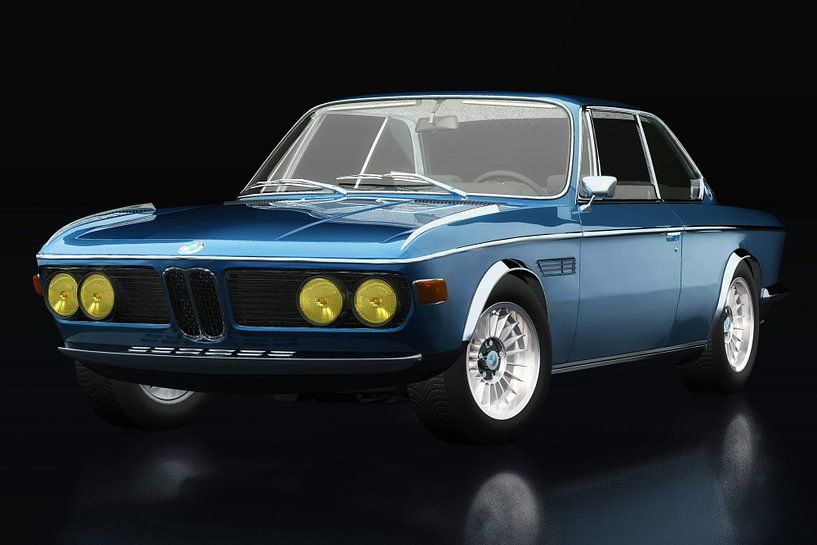 BMW 3.0 CSI 1971 driekwart zicht van Jan Keteleer