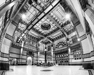 Groningen hoofdstation (zwart-wit) van